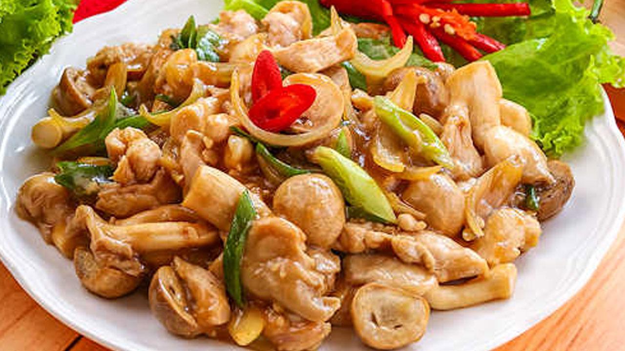 Resep Ayam Masak Jamur
